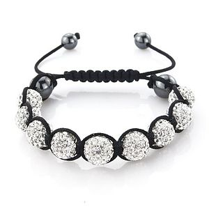 Nine Ball Crystal Friendship Bracelet