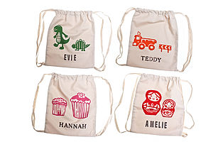 Print Personalised Children's Kit Bag - bags, purses & wallets
