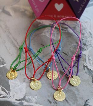 Set Of Five String Of Luck Bracelets