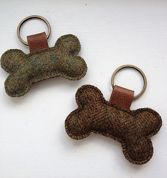 Tweed Bone Keyrings
