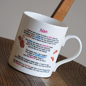 Mother's Day Gift Mug For Nan - crockery & chinaware