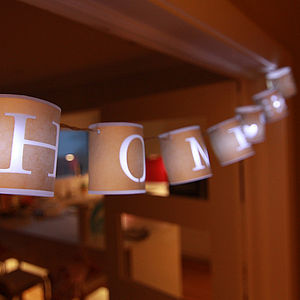 Personalised Paper Lantern Lights - lighting