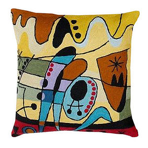 Hand Made Miro Busy Cushion Case - cushions