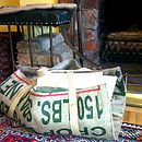Reclaimed Coffee Sack Log Carrier