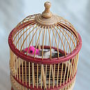 Singing Wooden Bird In Cage