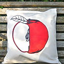 Screen Printed Apple Cushion