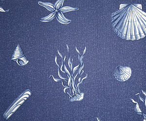 Shells Fabric - throws, blankets & fabric