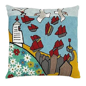 Designer Seagull Scatter Cushion Case - cushions