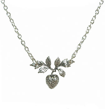 I'd Pick You! Strawberry Necklace