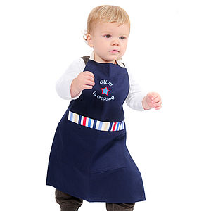 Kids Personalised Embroidered Apron - kitchen