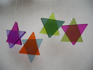 Six Point Tree Stars - art & decorations