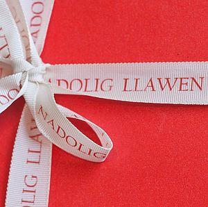 Welsh Christmas Gift Ribbon