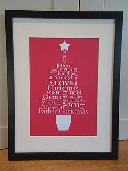 Christmas 'FAMILY' Tree Print