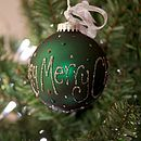 Personalised Hand Painted Christmas Bauble