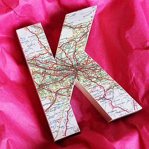 Map Letter Stocking Filler - gifts for the home