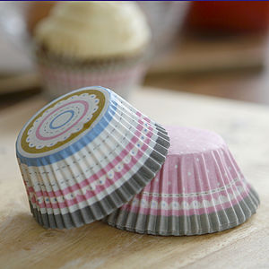 Pink Stripe And Spot Cupcake Cases - cupcake cases