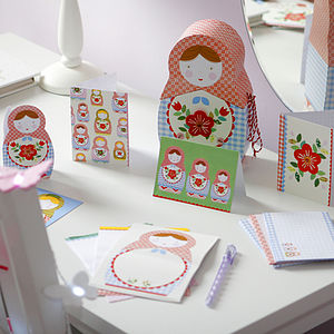 Russian Doll Stationery Box Set - crafts & creative gifts