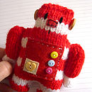 red-and-white stripy Robot kit