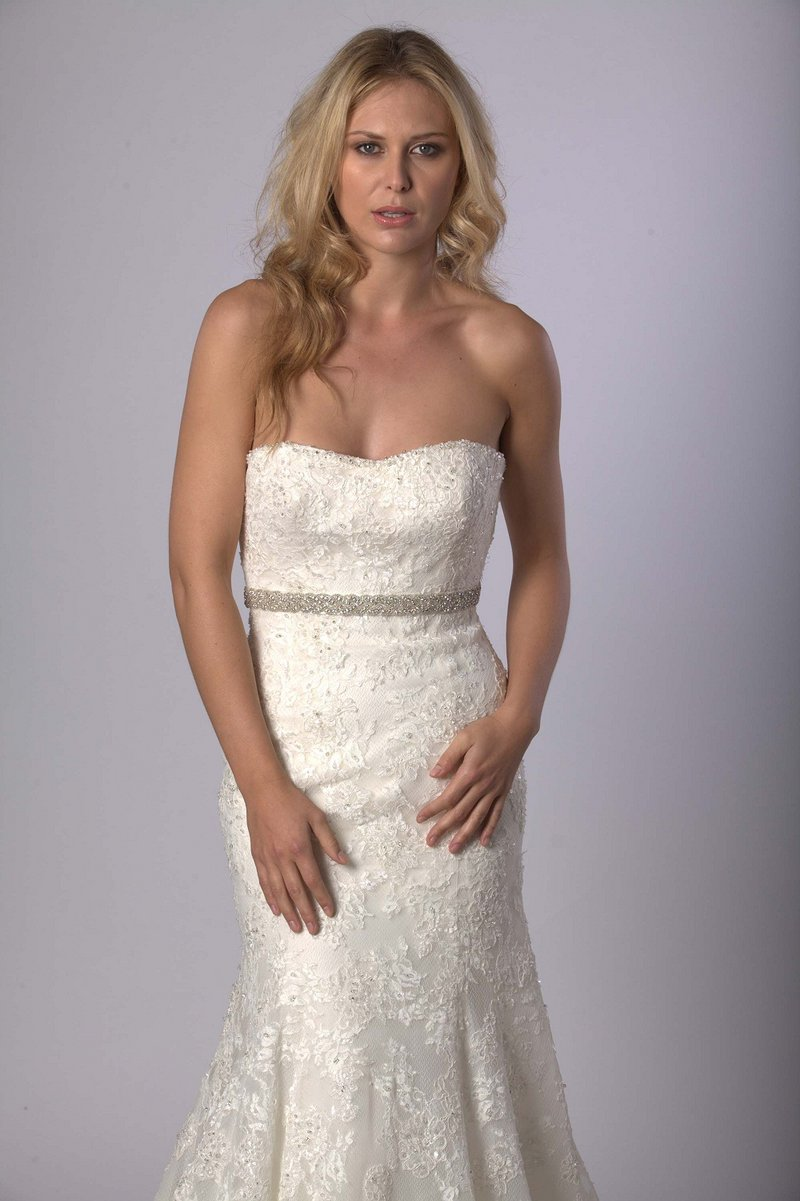 chloe wedding dress belt by sash & co. | notonthehighstreet.com