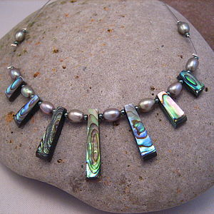 Abalone And Freshwater Pearl Necklace - necklaces & pendants
