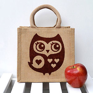 Little Owl Lunch Bag - bags, purses & wallets