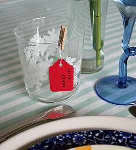 Pack Of Ten Tags With Pegs - table decorations