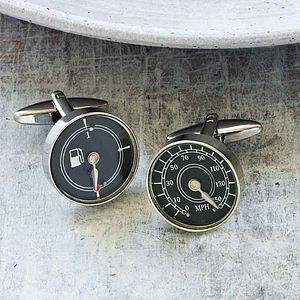 Car Dial Cufflinks - men's jewellery