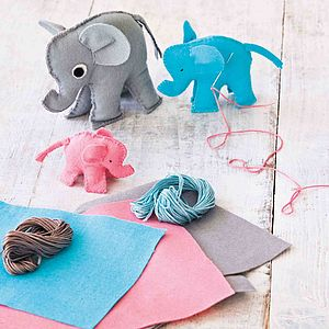 Elephant Family Sewing Kit - gifts for children