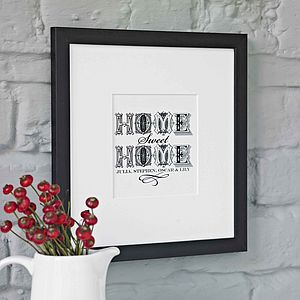 Personalised New Home Art Print - shop by price