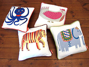 Animal Print Cotton Cushion