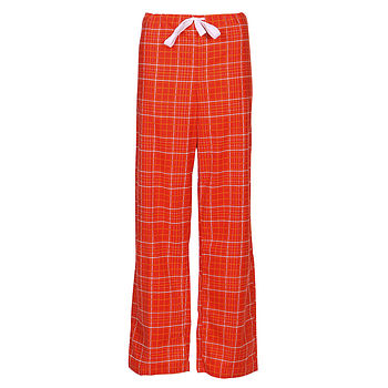 Plaid Brushed Cotton Pyjama Trousers - Holly Red