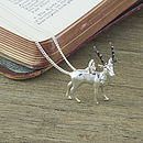 Polished Silver Stag Pendant