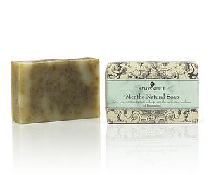 Peppermint Natural Handmade Soap - bathroom