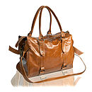 Tan Leather Satchel Style Bag