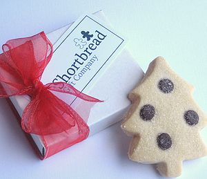 Christmas Tree And Angel Shortbread Cards - shortbread