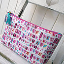 Vintage Style 'Love Laugh' Oilcloth Wash Bag