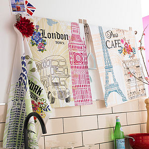 City Tea Towels - kitchen