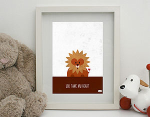 'You Tame My Heart' Print Unframed - posters & prints for children