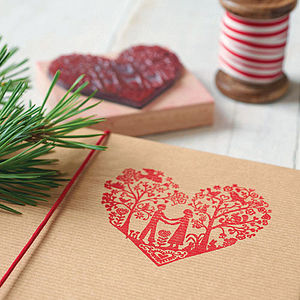 Festive Heart Stamp - cards