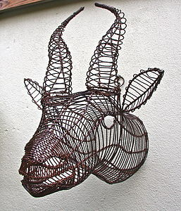 Springbok Wire Garden Trophy Head