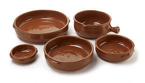 Handmade Terracotta Paella Dish - serving dishes
