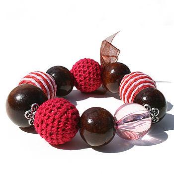 Chunky Raspberry Bracelet