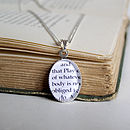 Book Excerpt Necklace