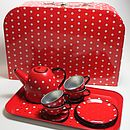 Vintage Style Children's Tin Tea Sets