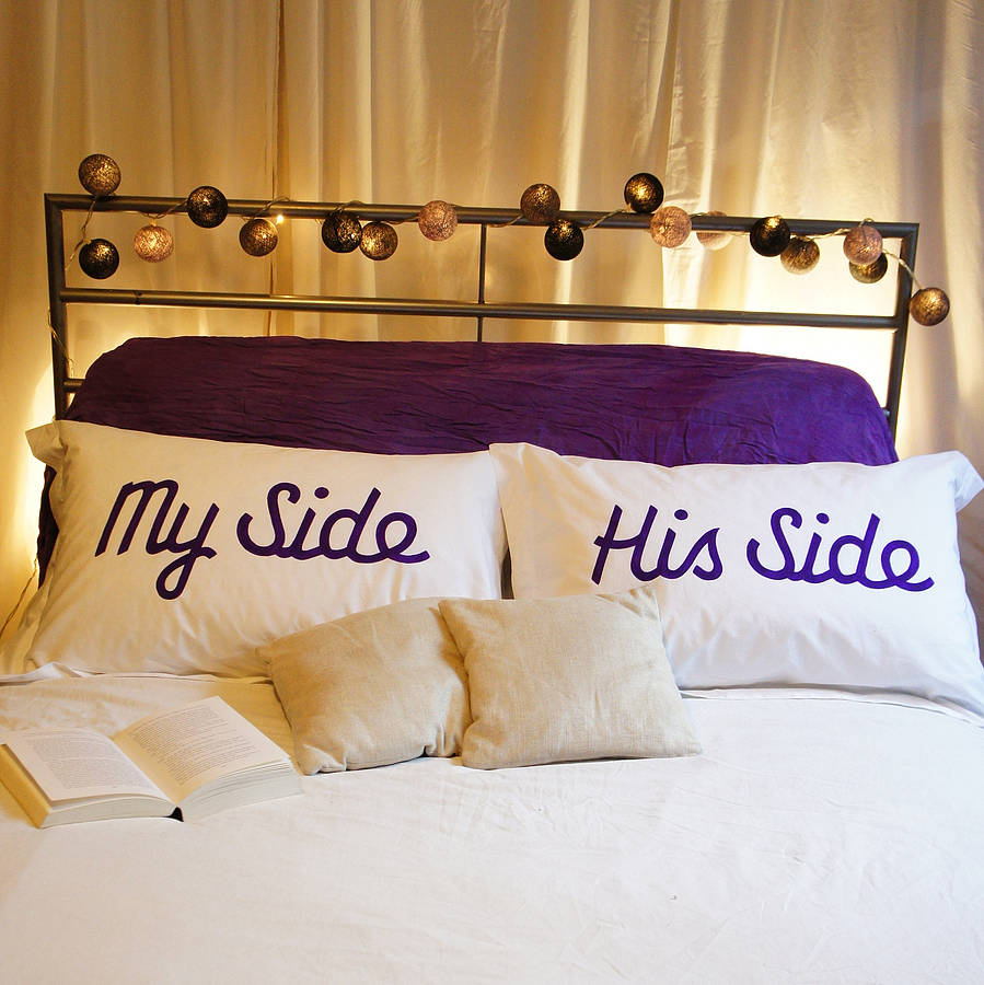 cushions covered 'My Side Your Side' Pillowcases