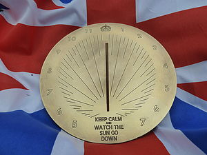 Personalised 'Keep Calm' Brass Sundial - art & decorations