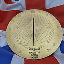 Personalised 'Keep Calm' Brass Sundial