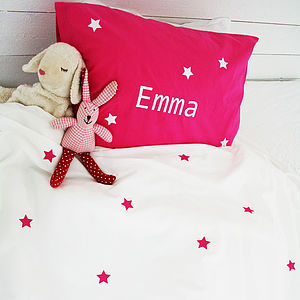 Personalised Girls Star Bed Linen - cushions