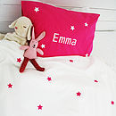 Personalised Girls Star Bedding