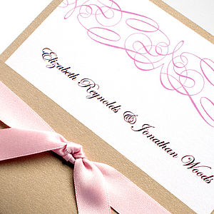 Flourish Wedding Stationery Collection - invitations